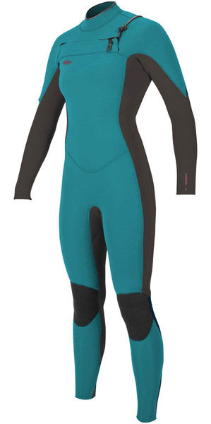 2018 O'Neill Womens Hyperfreak 3/2mm Chest Zip GBS Wetsuit GREEN / BLACK 5074