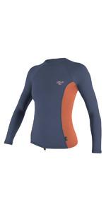 O'Neill Womens Premium Skins Long Sleeve Turtleneck Rash Vest MIST / CORAL 4172B