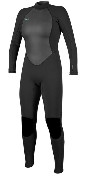 2018 O'Neill Womens Reactor II 3/2mm Back Zip Wetsuit BLACK 5042