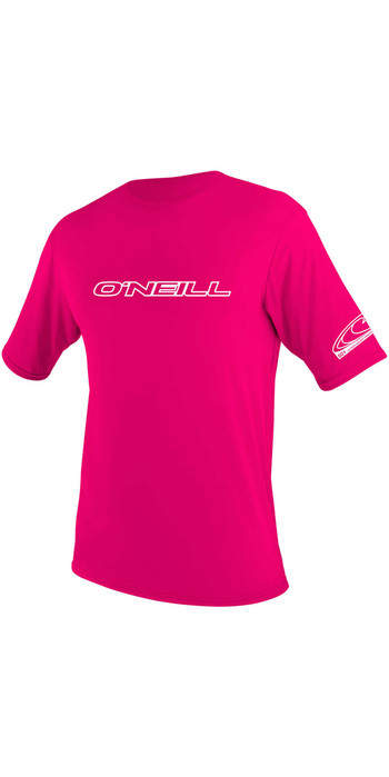 O'Neill Youth Basic Skins Short Sleeve Rash Tee WATERMELON 3422