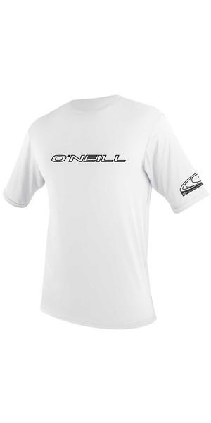 2018 O'Neill Youth Basic Skins Short Sleeve Rash Tee WHITE 3422
