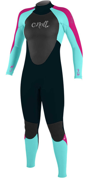 2018 O'Neill Youth Girls Epic 4/3mm Back Zip GBS Wetsuit SLATE / SEAGLASS / BERRY 4216G