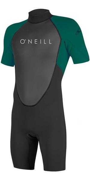 2018 O'Neill Youth Reactor II 2mm Back Zip Shorty Wetsuit BLACK / REEF 5045