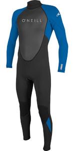 2020 O'Neill Youth Reactor II 3/2mm Back Zip Wetsuit BLACK / OCEAN 5044