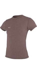 O'Neill Womens Hybrid Short Sleeve Surf Tee PEPPER 4675