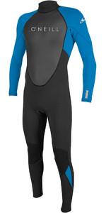 2020 O'Neill Reactor II 3/2mm Back Zip Wetsuit BLACK / OCEAN 5040