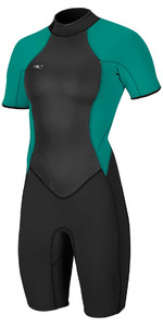 2018 O'Neill Womens Bahia 2/1mm Back Zip Shorty Wetsuit BLACK 4858 CLEARANCE