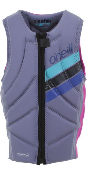 2019 O'Neill Girls Slasher Comp Impact Vest Mist / Berry 4940GEU