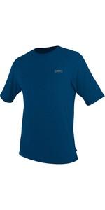 2021 O'Neill Mens Blueprint UV Short Sleeve Sun Shirt Rash Vest 5450SD - Deep Sea