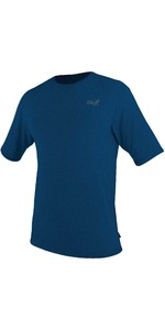 2021 O'Neill Mens Blueprint UV Short Sleeve Sun Shirt Rash Vest 5450SB - Deep Sea