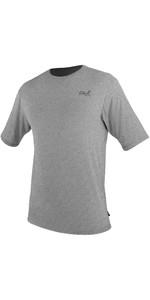 2021 O'Neill Mens Blueprint UV Short Sleeve Sun Shirt Rash Vest 5450SB - Overcast