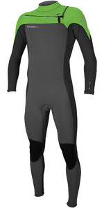 2019 O'Neill Mens Hammer 3/2mm Chest Zip Wetsuit Graphite / Black / Day Glo 4926