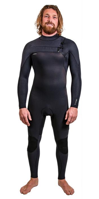 2021 O'Neill Mens HyperFreak+ 4/3mm Chest Zip Wetsuit 5344 - Black