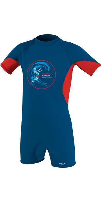 2020 O'Neill Toddler O'Zone Sun Suit Deepsea / Red / White 5298
