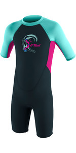 2020 O'Neill Toddler Reactor 2mm Back Zip Shorty Wetsuit Slate / Berry / Seaglass 4867