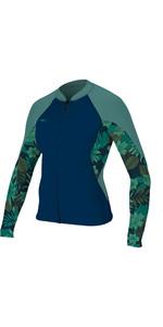 2019 O'Neill Womens Bahia 1mm Full Zip Long Sleeve Neoprene Jacket Abyss / Faro 4933