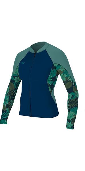 2019 O Neill Womens Bahia 1mm Full Zip Long Sleeve Neoprene Jacket Abyss    Faro ONeill 6d52b1962