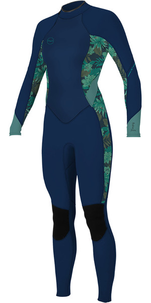 2019 O'Neill Womens Bahia 3/2mm Back Zip Wetsuit Abyss / Faro 5292