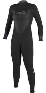 O'Neill Womens Epic 5/4mm Back Zip GBS Wetsuit BLACK / BLACK 4218
