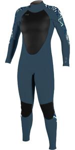 2021 O'Neill Womens Epic 4/3mm Back Zip Wetsuit 4214B - Shade / Bungalowstripe