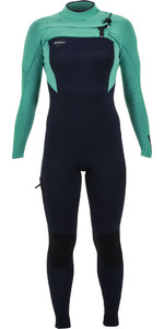 2019 O'Neill Womens Hyperfreak 5/4mm Chest Zip Wetsuit Abyss / Seaglass 5323