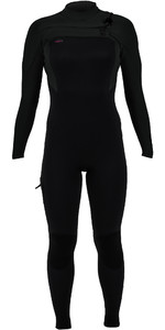 2019 O'Neill Womens Hyperfreak 3/2mm Chest Zip Wetsuit Black 5321