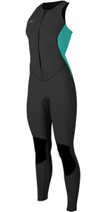 2019 O'Neill Womens Reactor II 1.5mm Long Jane Black / Aqua 5295