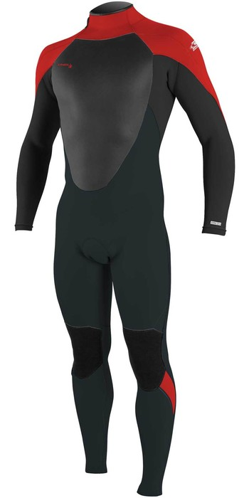 2021 O'Neill Youth Epic 3/2mm Back Zip GBS Wetsuit 4215 - Gunmetal / Black / Red