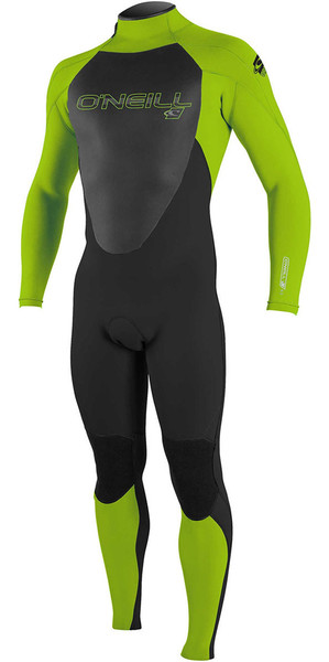 2018 O'Neill Youth Epic 3/2mm Back Zip GBS Wetsuit BLACK / Day Glo 4215 SECOND