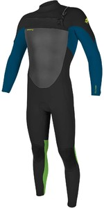 2020 O'Neill Youth Epic 5/4mm Chest Zip GBS Wetsuit 5372 - Black / Ultra Blue / Day Glow
