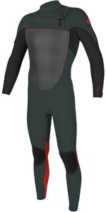 2020 O'Neill Youth Epic 5/4mm Chest Zip GBS Wetsuit 5372 - Gunmetal / Black / red