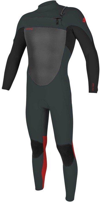 2020 O'Neill Youth Epic 4/3mm Chest Zip GBS Wetsuit 5358 - Gunmetal / Black / Red
