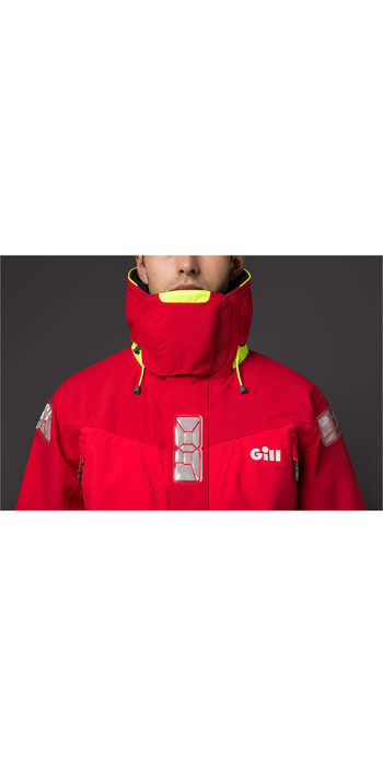 2021 Gill OS2 Mens Offshore Jacket Red OS24J