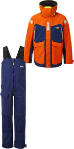 2019 Gill OS2 Mens Offshore Jacket OS24J & Trouser OS24T Combi Set Tango / Blue