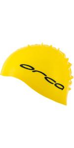 2021 Orca Silicone Swim Cap DVA00050 - Yellow