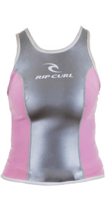 Rip Curl Ladies 2mm Orca Meopren Vest Silver / Pink W7572 - 2nd