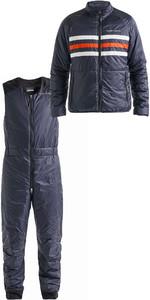 2019 Henri Lloyd Mens Fremantle Stripe Liner Jacket & Salopettes Combi Set Navy Blue