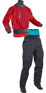 2020 Palm Mens Atom Whitewater Kayak Jacket & Trouser Combi Set - Chilli Flame / Jet Grey