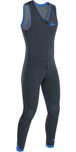 2019 Palm Blaze 3mm GBS Front Zip Long John Wetsuit Jet Grey 12230
