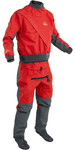 2019 Palm Mens Cascade Front Zip Kayak Drysuit + Con Zip Flame Red 11741