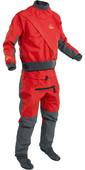2020 Palm Mens Cascade Front Zip Kayak Drysuit + Con Zip Flame Red 11741