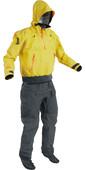 2021 Palm Mens Bora Touring Kayak Drysuit Yellow / Jet Grey 12382