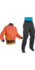 2020 Palm Mens Surge Whitewater Kayak Jacket & Atom Trouser Combi Set - Madarin /  Grey