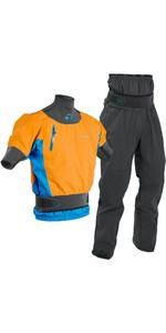 2020 Palm Mens Zenith Whitewater Short Sleeve Kayak Jacket & Trouser Combi Set - Sherbet / Grey