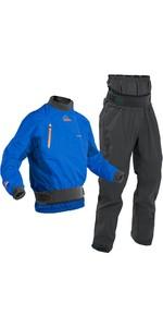 2020 Palm Mens Surge Whitewater Kayak Jacket & Zenith Dry Trouser Combi Set - Cobalt / Grey
