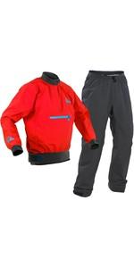 2020 Palm Mens Vector Kayak Jacket & Trouser Combi Set - Red / Grey