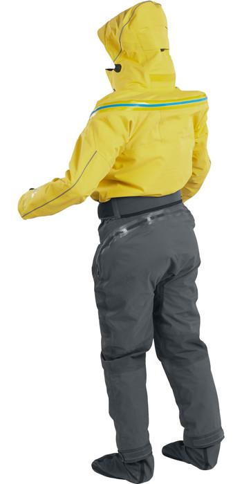 2021 Palm Womens Bora Touring Kayak Drysuit Yellow / Jet Grey 12383