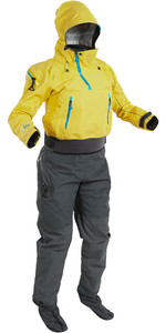 2021 Palm Womens Bora Touring Kayak Drysuit Yellow / Jet Grey 12383