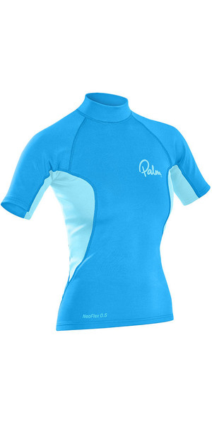 2018 Palm Womens Neo Flex Short Sleeve 0.5mm Thermospan Top Aqua 12188