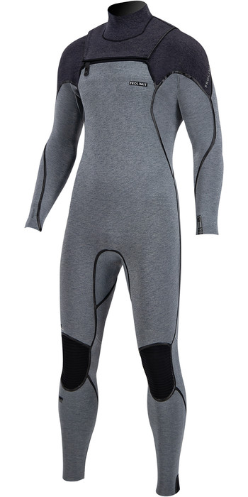 2020 Prolimit Mens Mercury 5/3mm TR Free Zip Wetsuit 14035 - Grey / Black